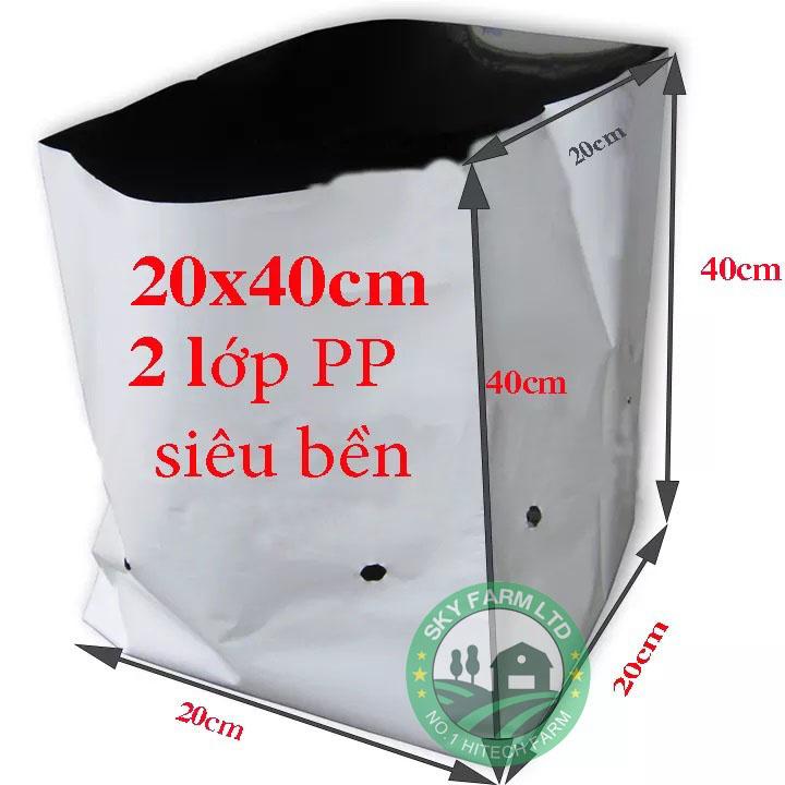 Túi PE trồng cây 2 lớp siêu bền, chống tia UV